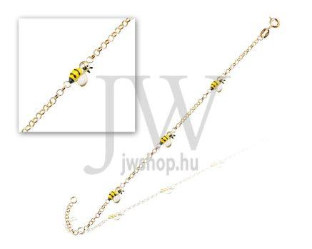Sárga arany  gyermek karkötő - 16