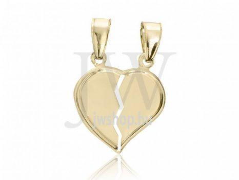 Arany, törhető szív medál - 73