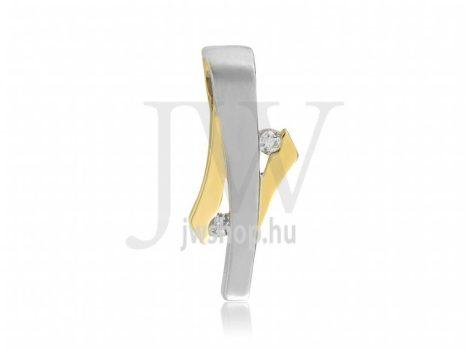 Köves, fehér arany medál - 132