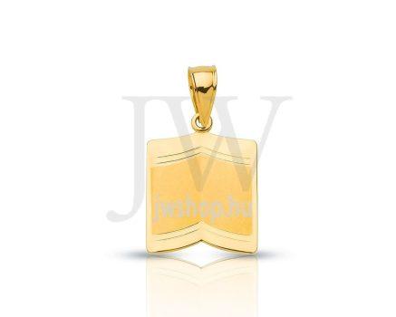 Arany nyitott könyvmedál - 142