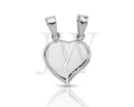Törhető, fehér arany szívmedál - 150