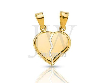 Törhető, arany szívmedál - 154