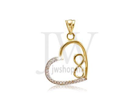 Arany, szív medál - 203