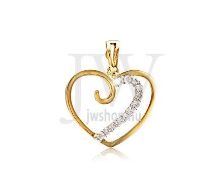 Arany, szív medál - 204
