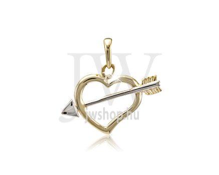 Arany, szív medál - 208