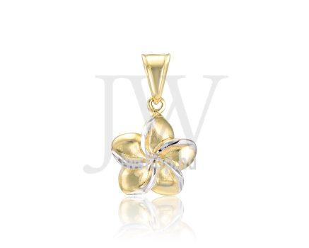 Sárga-fehér arany, virág, medál - 253
