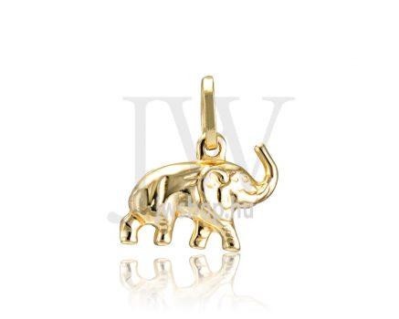 Sárga arany, elefánt medál - 276