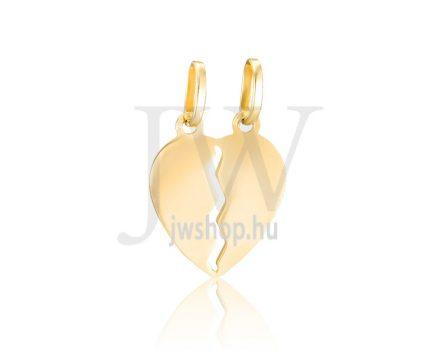 Sárga arany, törhető szív medál - 288