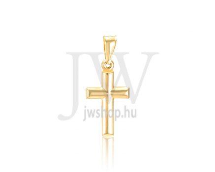 Sárga arany, kereszt medál - 299