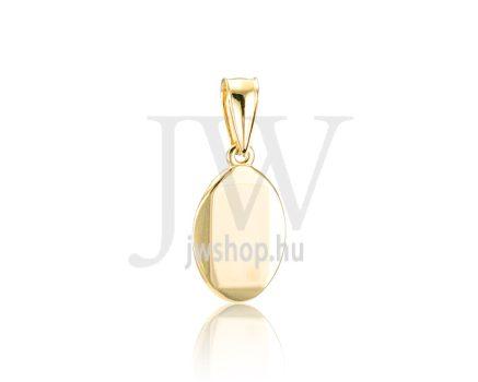 Sárga arany, ovális, lap medál - 324