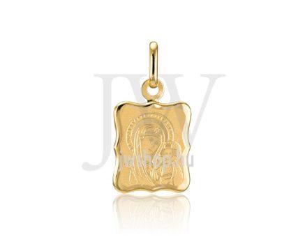 Sárga arany, vésett, Mária lapmedál - 347