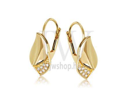 Sárga arany köves patentzáras fülbevaló  FGYP10