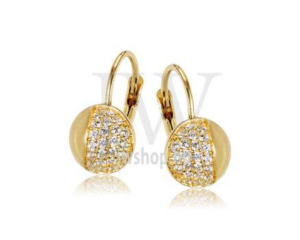 Sárga arany köves patentzáras fülbevaló  FGYP15