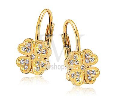 Sárga arany köves patentzáras fülbevaló  FGYP16