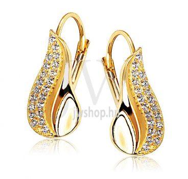 Sárga arany köves patentzáras fülbevaló  FGYP18