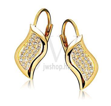 Sárga arany köves patentzáras fülbevaló  FGYP19