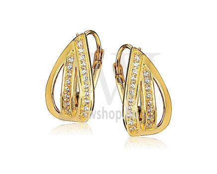 Sárga arany köves patentzáras fülbevaló  FGYP20
