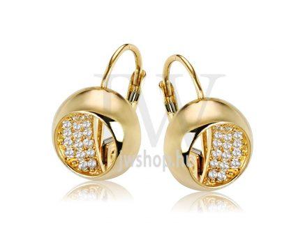 Sárga arany köves patentzáras fülbevaló  FGYP27