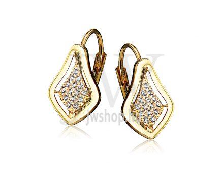 Sárga arany köves patentzáras fülbevaló  FGYP28