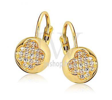 Sárga arany köves patentzáras fülbevaló  FGYP3