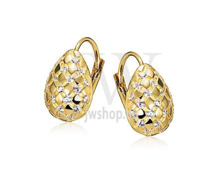 Sárga arany köves patentzáras fülbevaló  FGYP32