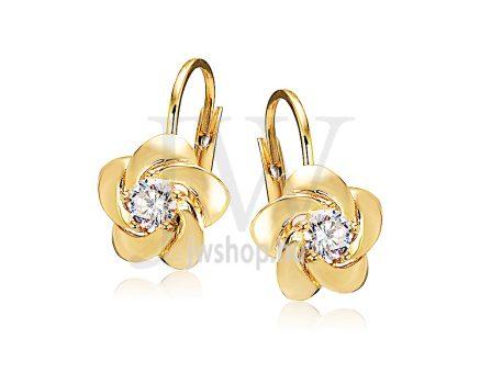 Sárga arany köves patentzáras fülbevaló  FGYP5