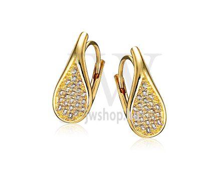 Sárga arany köves patentzáras fülbevaló  FGYP7