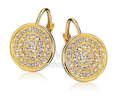 Sárga arany köves patentzáras fülbevaló  FGYP8