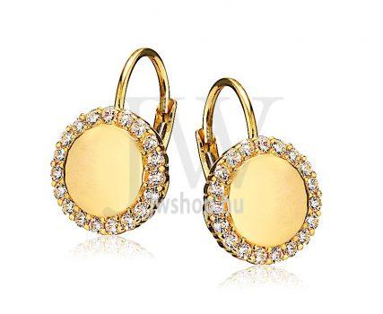 Sárga arany köves patentzáras fülbevaló  FGYP9