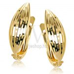 Sárga arany vésett francia kapcsos fülbevaló GYV4E
