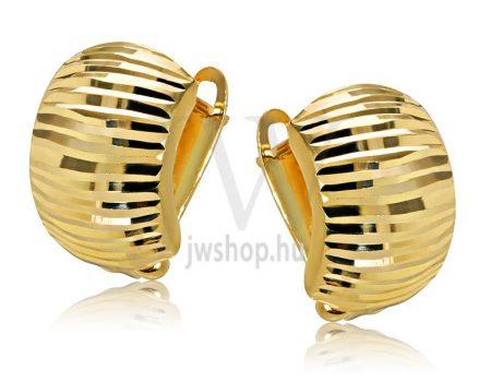 Sárga arany vésett francia kapcsos fülbevaló GYV9C