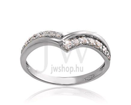 Fehér arany, köves eljegyzési gyűrű - SZ11/F