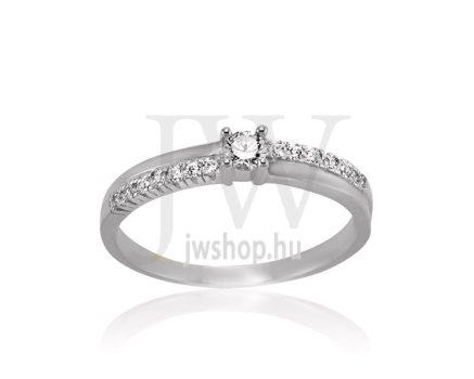 Fehér arany, köves eljegyzési gyűrű - SZ13/F