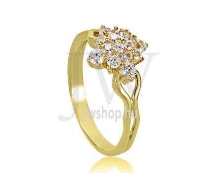 Sárga arany, köves eljegyzési gyűrű - SZ21/S