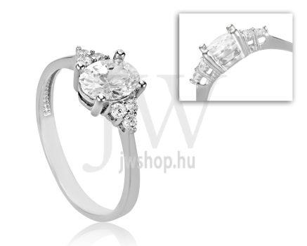 Fehér arany, köves eljegyzési gyűrű - SZ24/F
