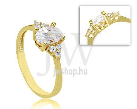 Sárga arany, köves eljegyzési gyűrű - SZ24/S