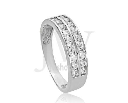 Fehér arany, köves eljegyzési gyűrű - SZ28/F