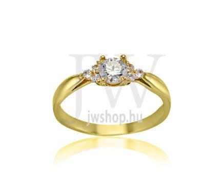 Sárga arany, köves eljegyzési gyűrű - SZ29/S