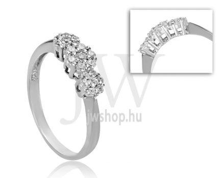 Fehér arany, köves eljegyzési gyűrű - SZ30/F