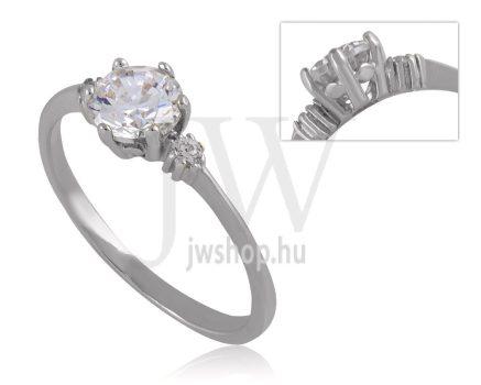 Fehér arany, köves eljegyzési gyűrű - SZ35/F