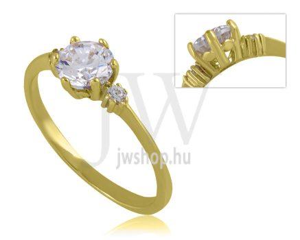 Sárga arany, köves eljegyzési gyűrű - SZ35/S