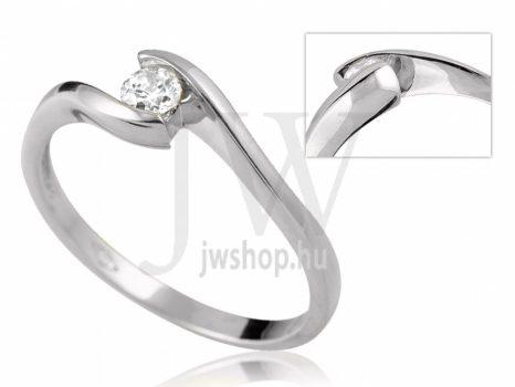 Fehér arany, köves eljegyzési gyűrű - SZ36/F