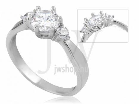 Fehér arany, köves eljegyzési gyűrű - SZ38/F