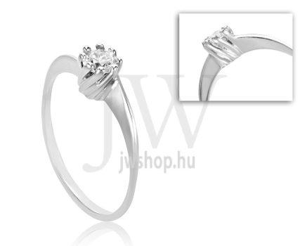 Fehér arany, köves eljegyzési gyűrű - SZ39/F