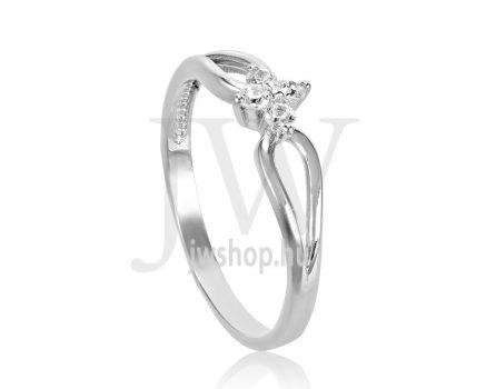 Fehér arany, köves eljegyzési gyűrű - SZ6/F