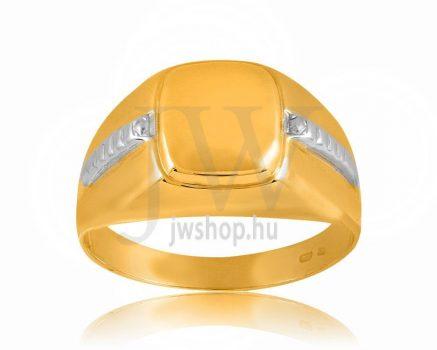 Arany férfi pecsétgyűrű 13