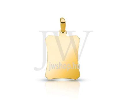 Arany, szögletes lapmedál - 145