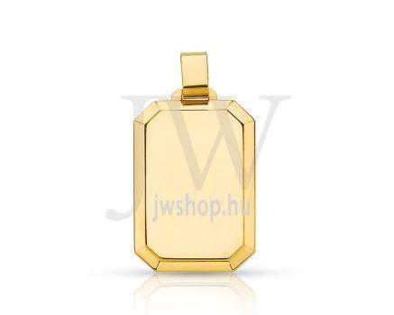 Arany, szögletes lapmedál - 160