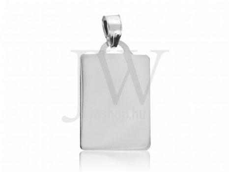 Fehér arany, lap medál - 0225