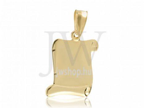 Arany, pergamen medál - 0226